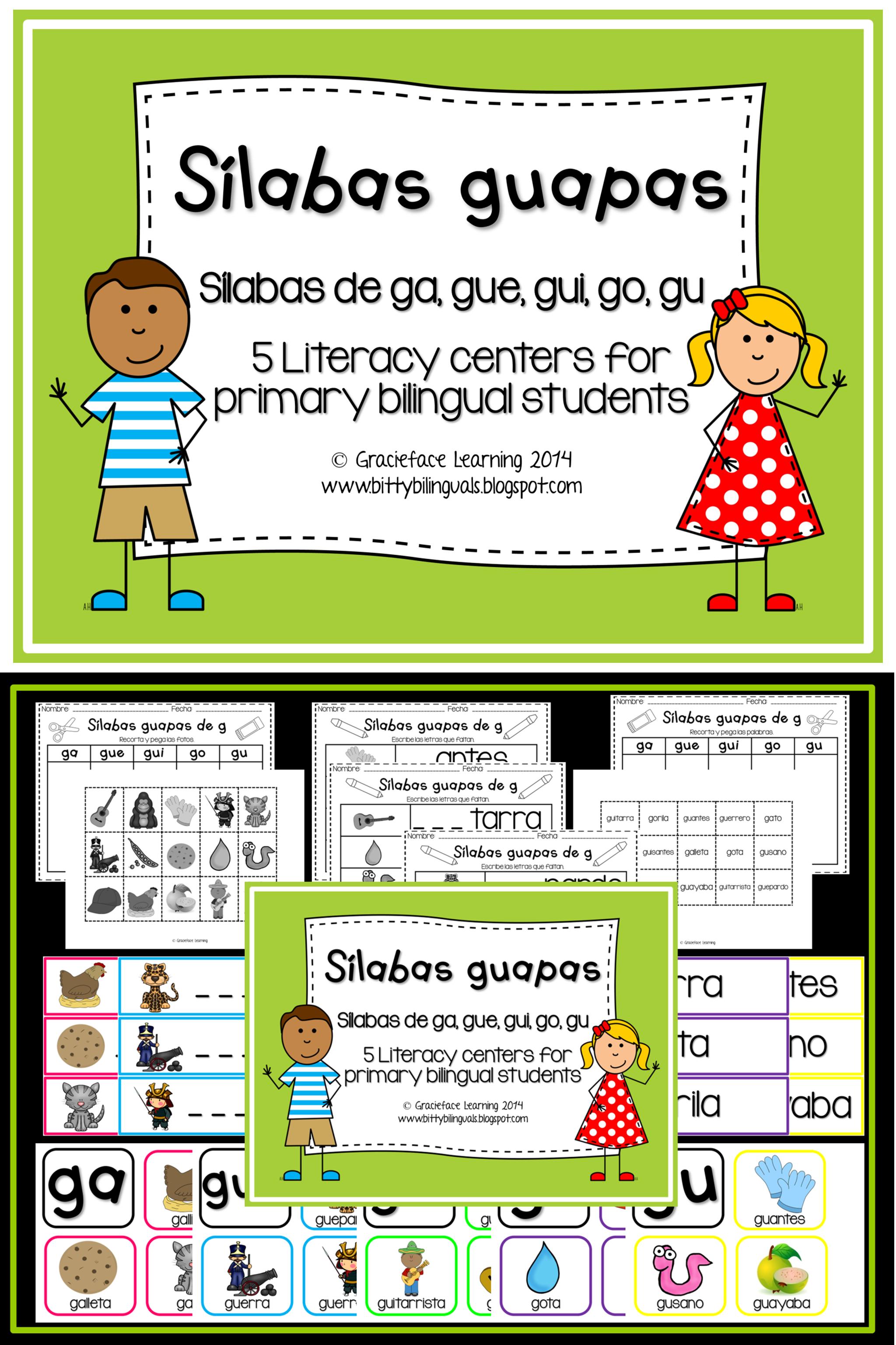 Sílabas guapas - Spanish Phonics Activities for ga, gue, gui, go, gu ...