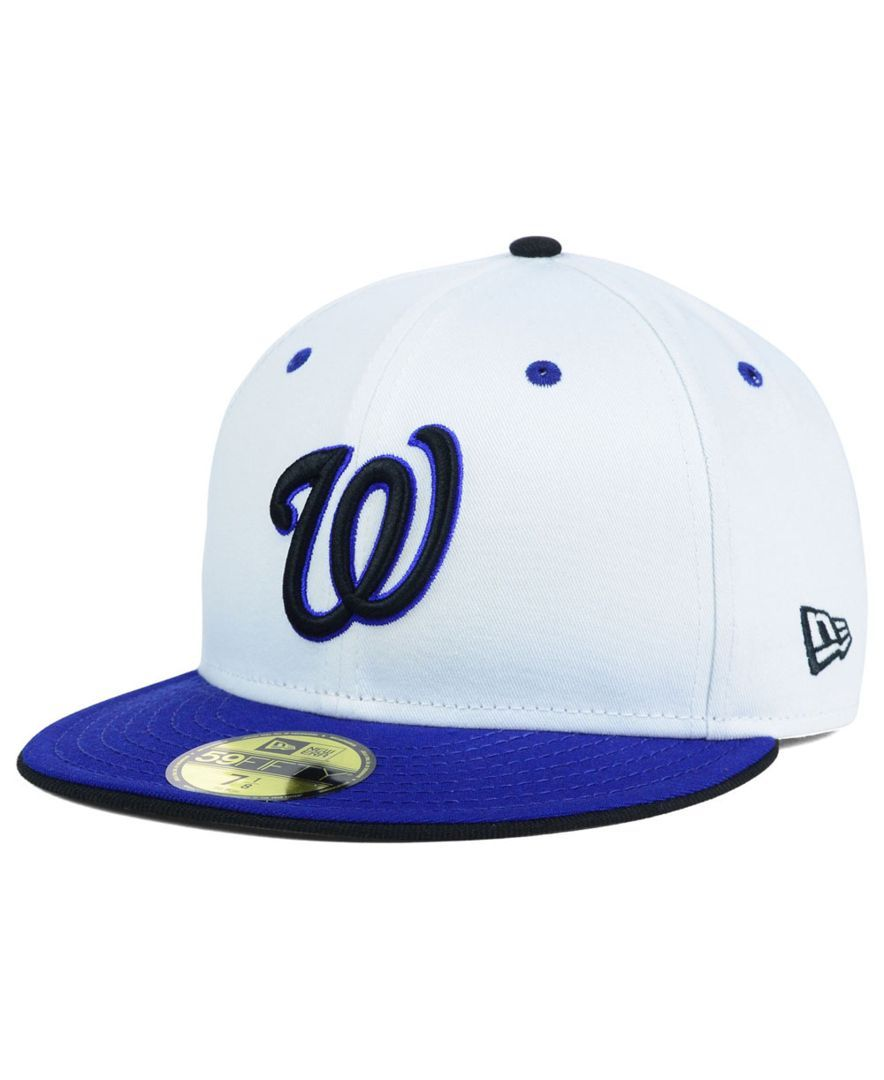 New Era Washington Nationals Mlb August Hookups 59fifty Cap Mlb Apparel Cap Fitted Hats