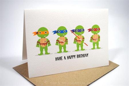Happy Birthday Card Boy Teenage Mutant Ninja Turtles Hbc116