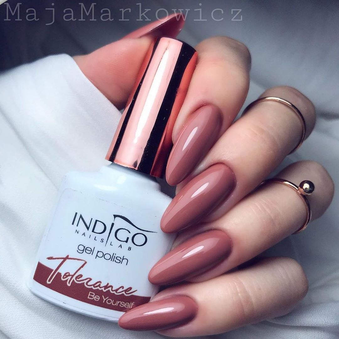 """Indigo Nails Lab LTD on Instagram: """"Gel polish in a non-obvious, dark shade of nude with notes of powder pink and caramel. A colour that will make each of us feel feminine and…"""""""