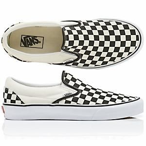 black and white vans checkerboard