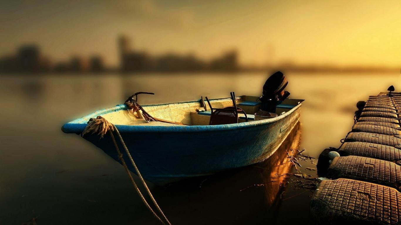 Low Tide Fishing Boat Sunset Nature Boat Wallpaper Fishing Boats