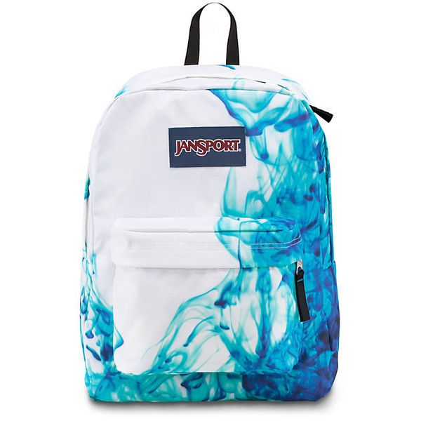 JanSport Superbreak MultiBlue Drip Dye (€33) found on