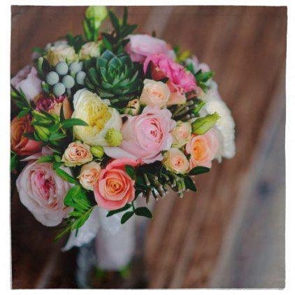 Yellow pink and orange flower bouquet napkin orange flower yellow pink and orange flower bouquet napkin mightylinksfo