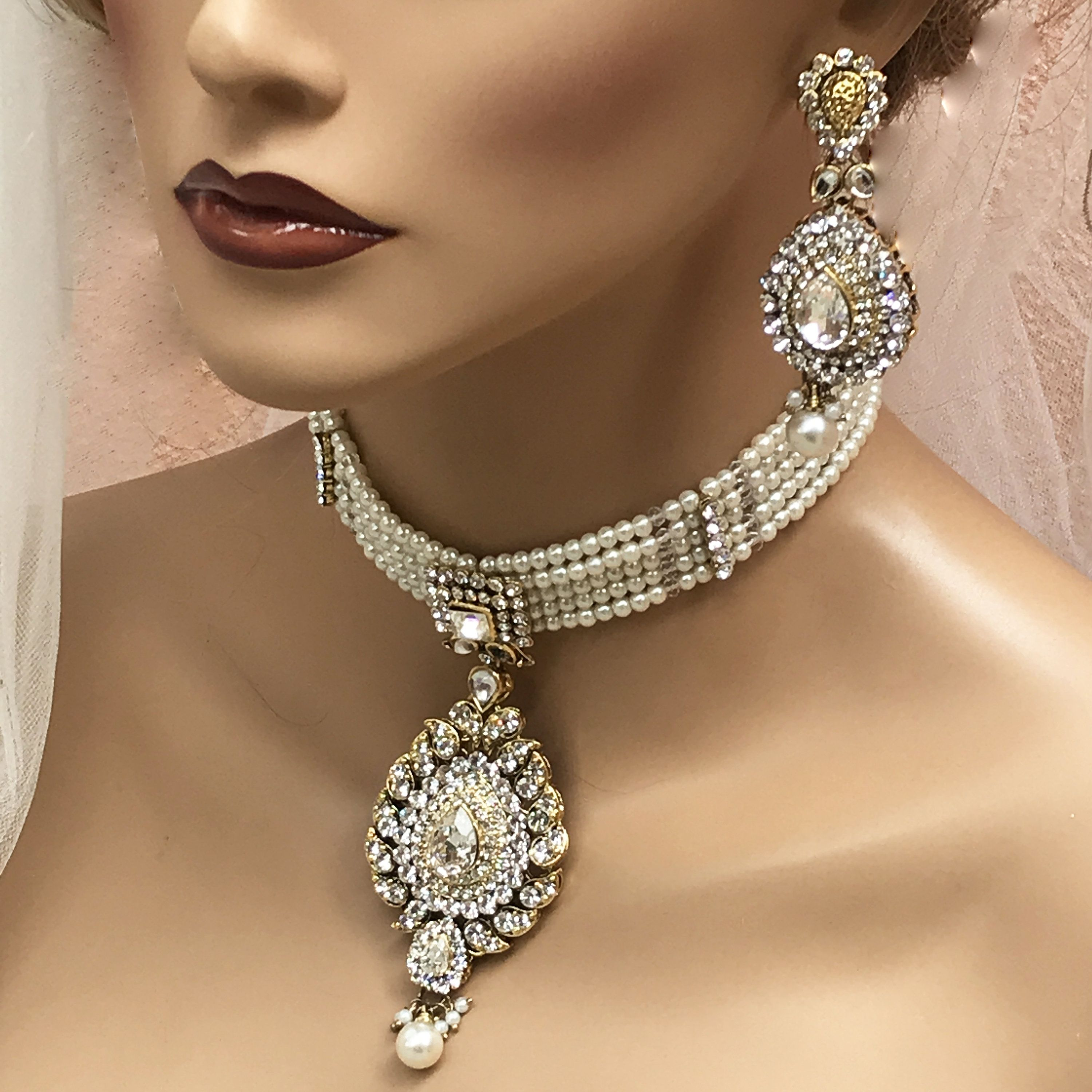 earrings gold plated lilies wedding evening bridal pearls CAlla Jewelry set wedding bridal necklace bracelet