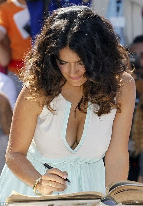 Salma Hayek, 53, Shows off Her Stunning Figure in Black Bikini While Sipping on a Cup of Coffee