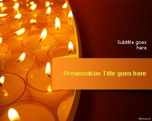 Free Festival Of Lights PowerPoint Template Is A Presentation Design With Candles To Celebrate Diwali Or Deepavali The