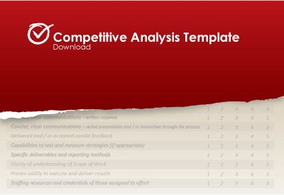 Competitive Analysis Report  Excel Project Management Templates