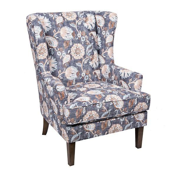 Best Blue Floral Wingback Accent Chair Kirklands Chandelier 400 x 300