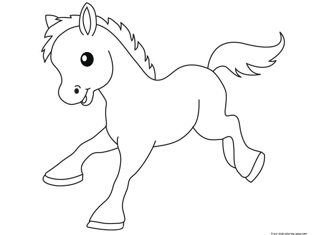 Pics Photos Funny Pony To Color Coloring Page Animal Pages Horse Print Outs