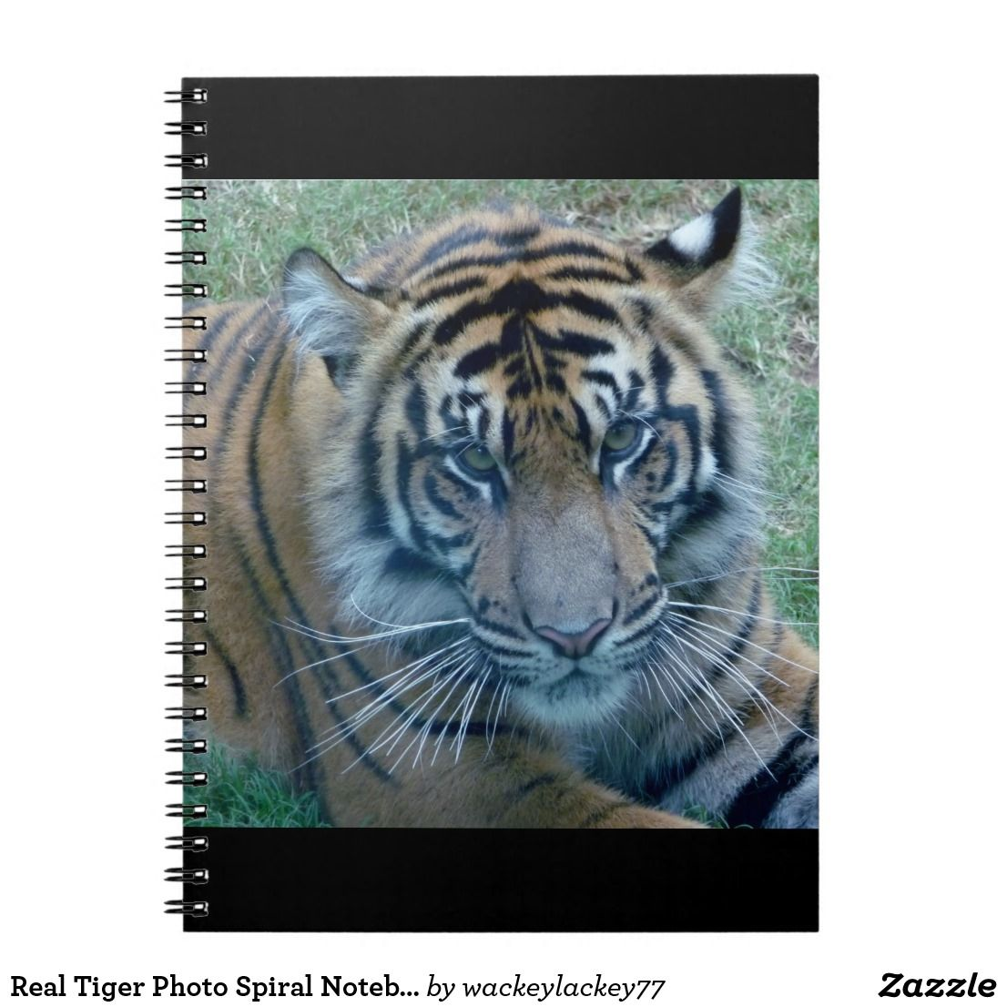 Real Tiger Photo Spiral Notebook | Zazzle.com | Fleece ...