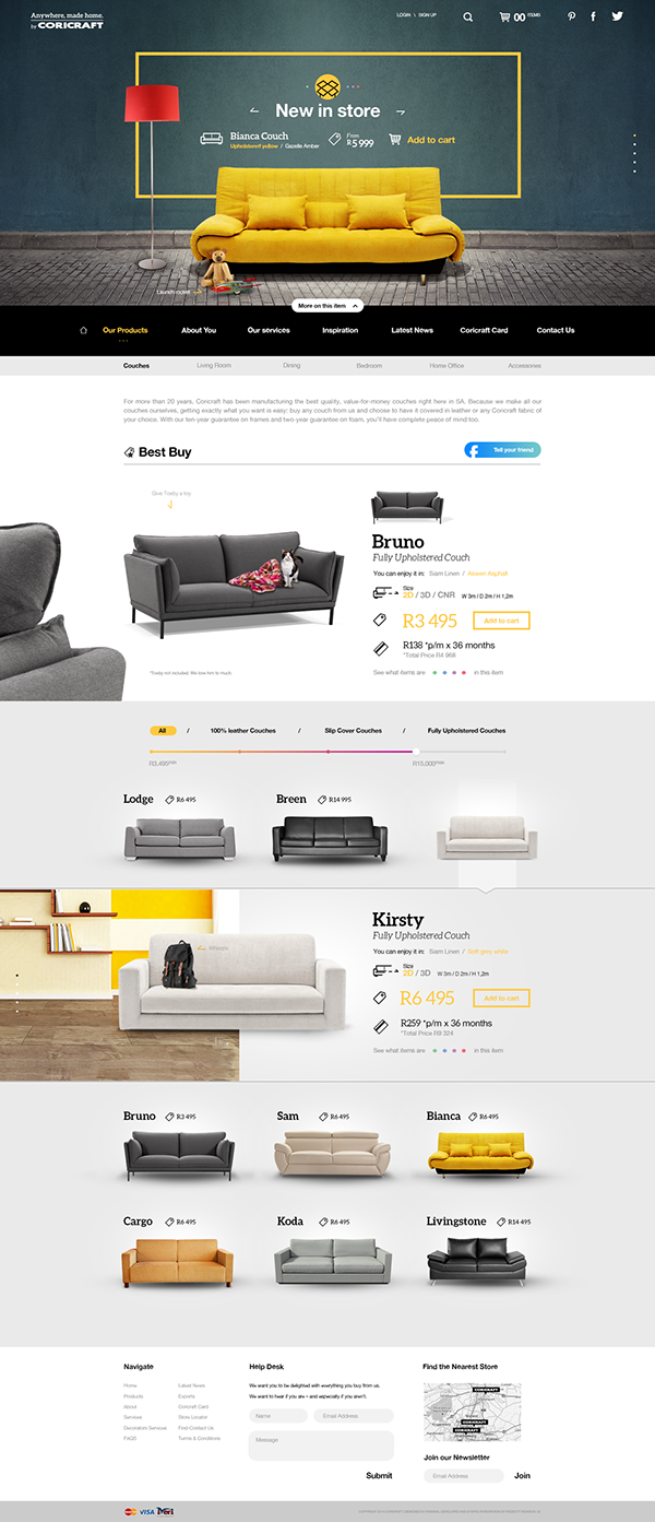 Concept Ui For Coricraft Art Direction Ui Ux Web Design Design  # Muebles Pagina Web