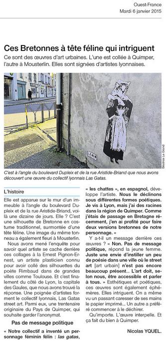 2015 01 [Gatas Street art collage Quimper]