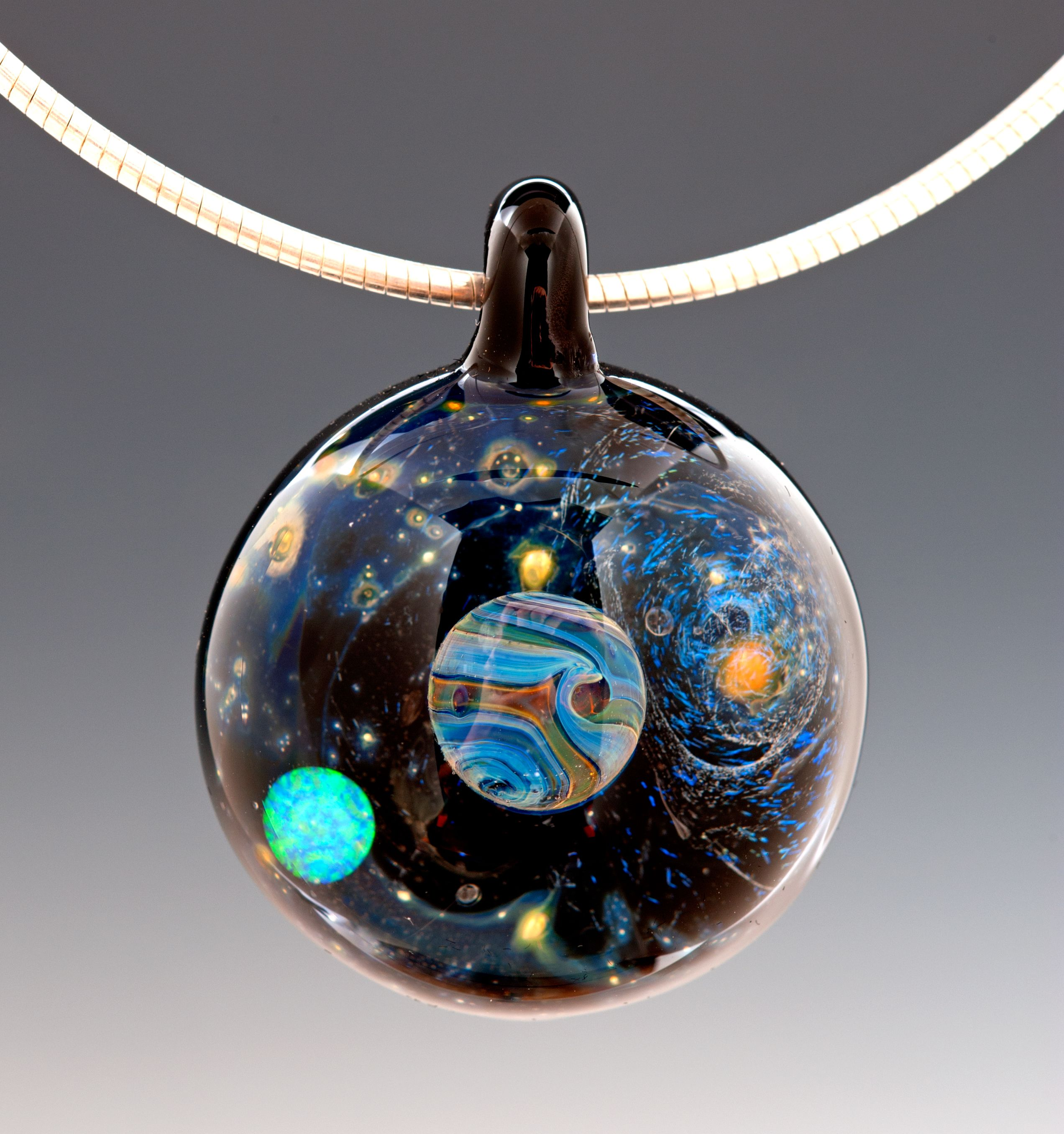 p and fullxfull glass art raku necklace il