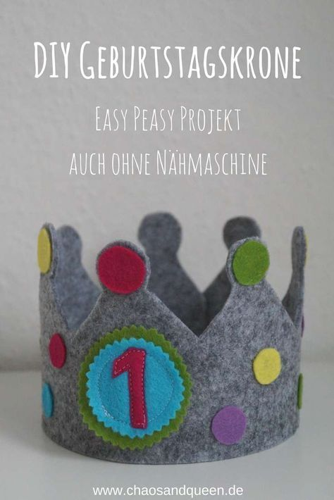 Geburtstagskrone aus Filz - ein Easy Peasy DIY Projekt