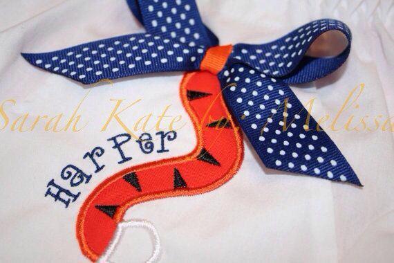 0d91c7a65 Auburn Tiger Tail Baby Bloomer with name