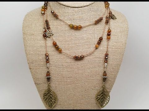 Knot a Bead Spacers Rope Necklace Tutorial - YouTube