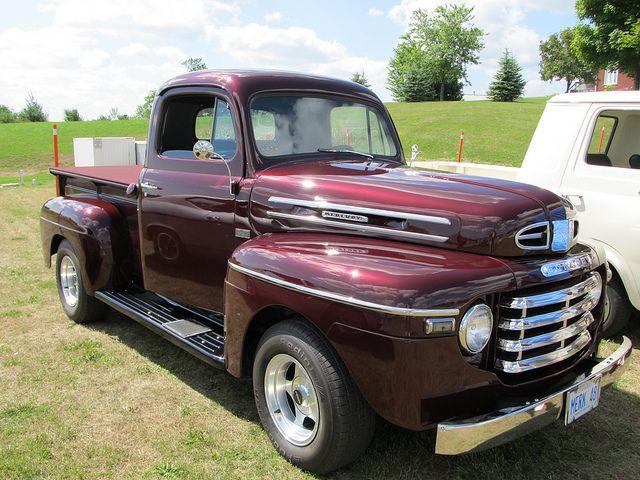 1948 Mercury Pickup Noon S Super Cruise Hwy115 Ont Canada 013 Classic Pickup Trucks Old Pickup Trucks Classic Cars Trucks