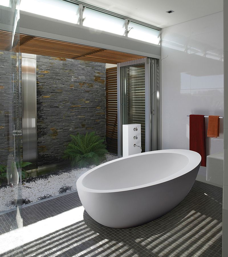 The Freestanding Cascara Tub Combines Blissful Comfort