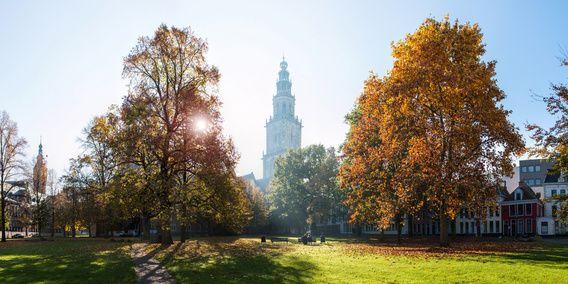 Martinitoren in de Herfst (panorama) van Frank van Tol