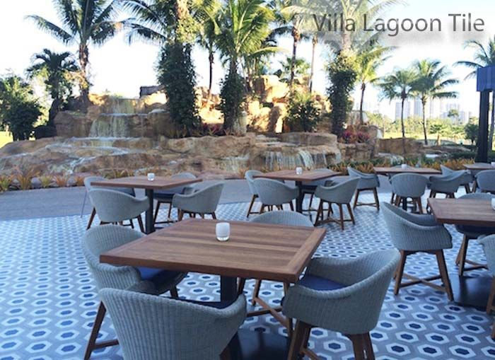 Turnberry Resort Patio In Miami With Villa Lagoon Tile
