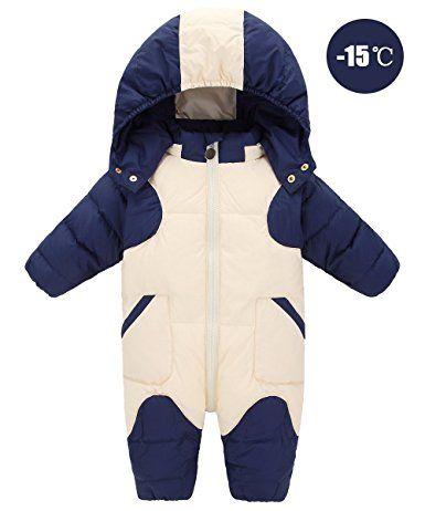 18477c70c GainKee Baby Girl and Boy Snowsuit Duck Down Jacket Kids Snow Wear ...
