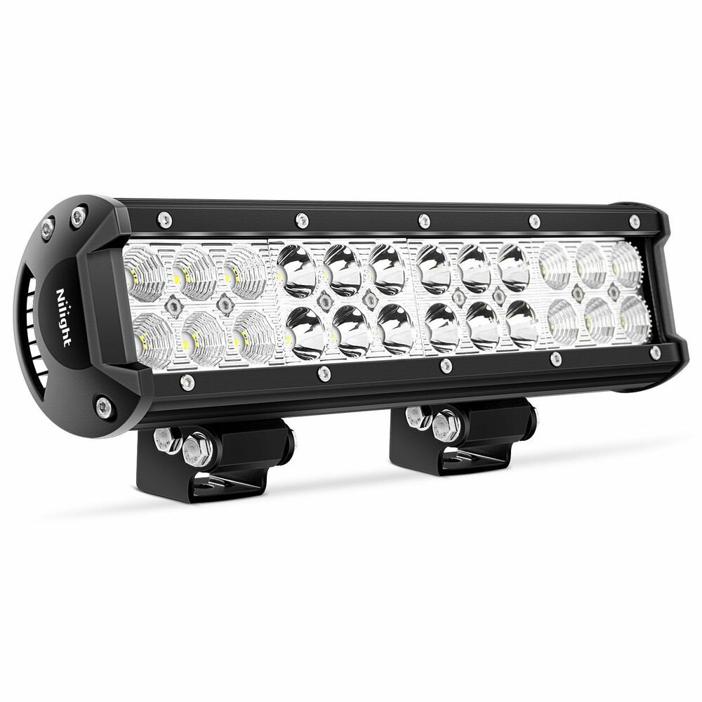 Led Light Bar Nilight 12 Inch 72w Led Work Light Spot Flood Combo Led Lights Led Nilight Bar Lighting Led Light Bars Best Led Light Bar