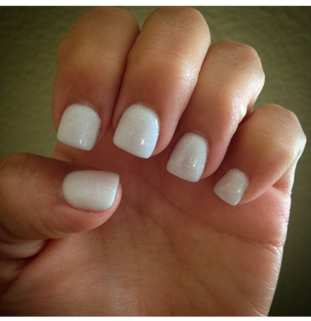 All White Gel Acrylic Nails Pretty Stuff In 2019 Acrylic Nails