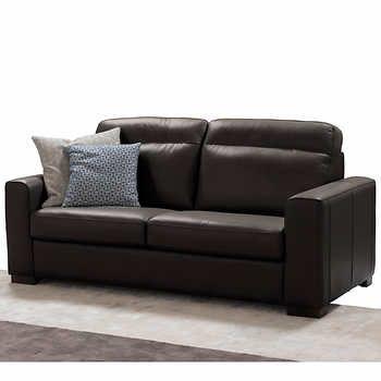 Ruben Brown Top Grain Leather Sofa Top Grain Leather Sofa Costco Furniture Leather Sofa