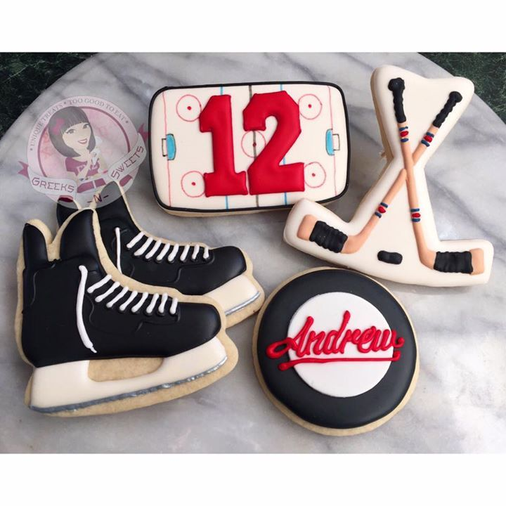 Greeks N Sweets Timeline Photos Hockey Cakes Hockey Cupcakes Birthday Cupcakes Boy
