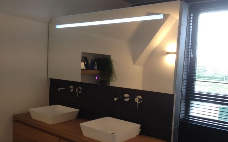 Spiegel Op Maat : Spiegel met led verlichting spiegel op maat gemaakt met schuine