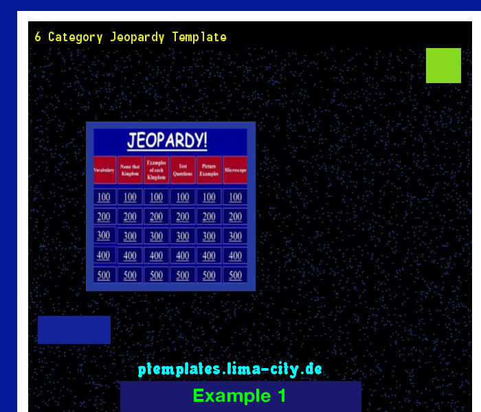 Category Jeopardy Template Powerpoint Templates   The