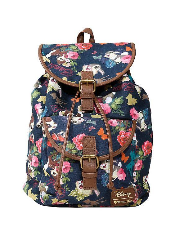 22f7eae4872 Loungefly Disney Bambi Thumper   Bambi Slouch Backpack