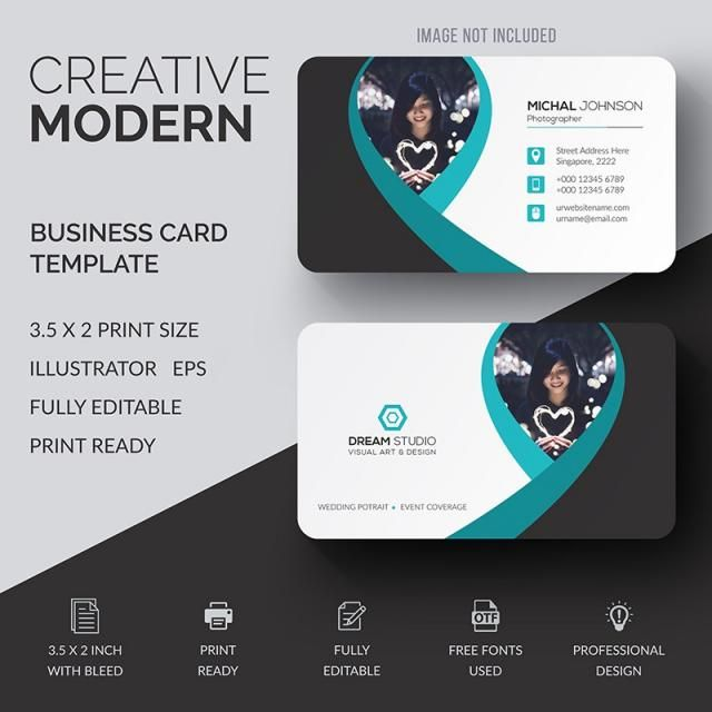 Business card template design vector creative modern abstract business card template design vector creative modern abstract reheart Choice Image