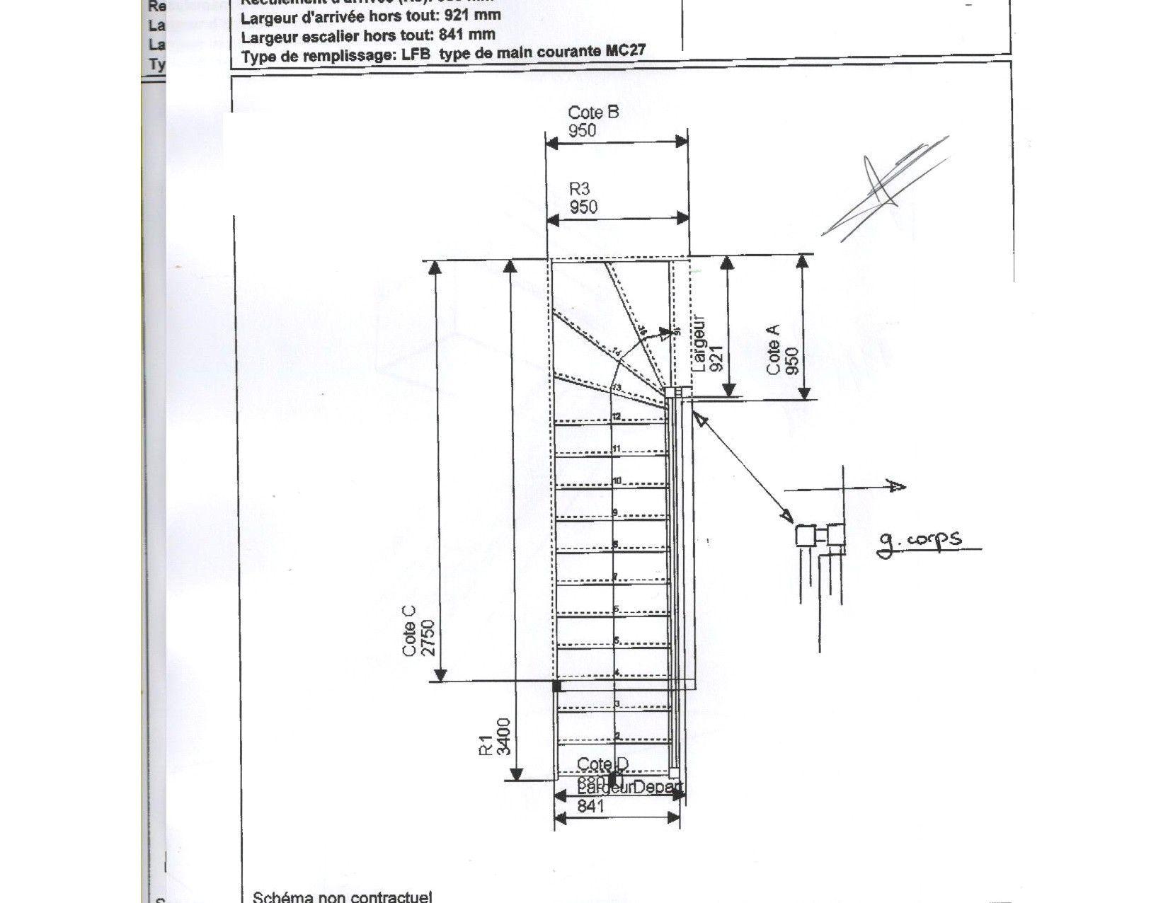 Dimension Escalier Quart Tournant Avec Meilleur De Escalier Quart