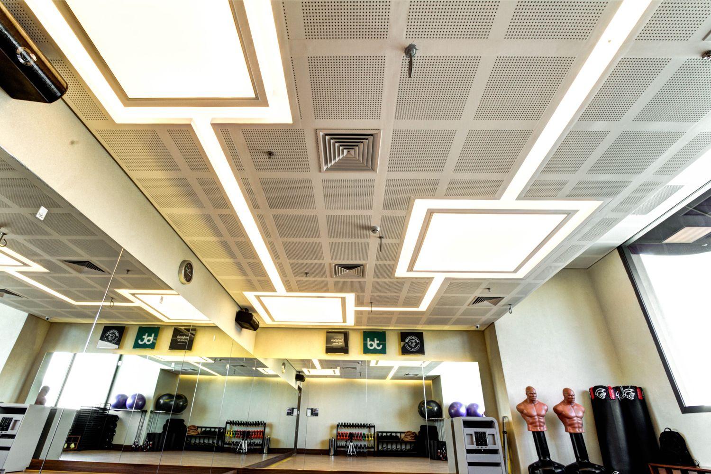 Luminária em tela Tensoflex Academia Body Tech Alphaville | Tensoflex Telas Tensionadas