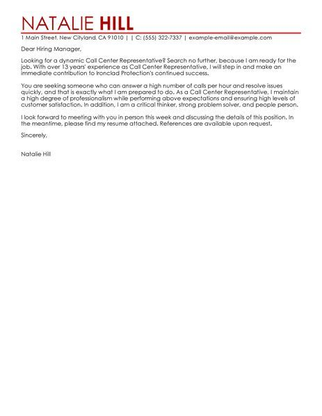 big classic call center representativecover letter example customer - sample letter of appointment