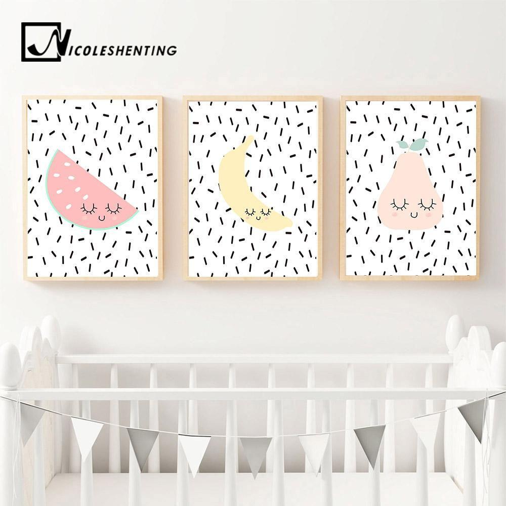 Giraffe Print Animal Print Wall Art Poster 3x Home Decor Print Kids Print