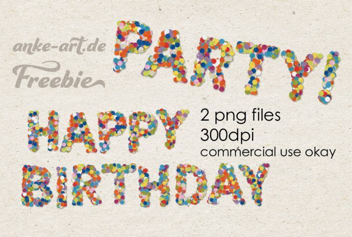Confetti alpha as digital download, commercial use friendly. For digital scrapbooking - PARTY! and HAPPY BIRTHDAY