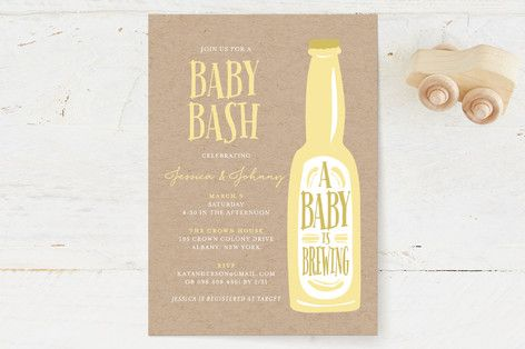Brewing baby love Baby Shower Invitations by heythird at minted.com