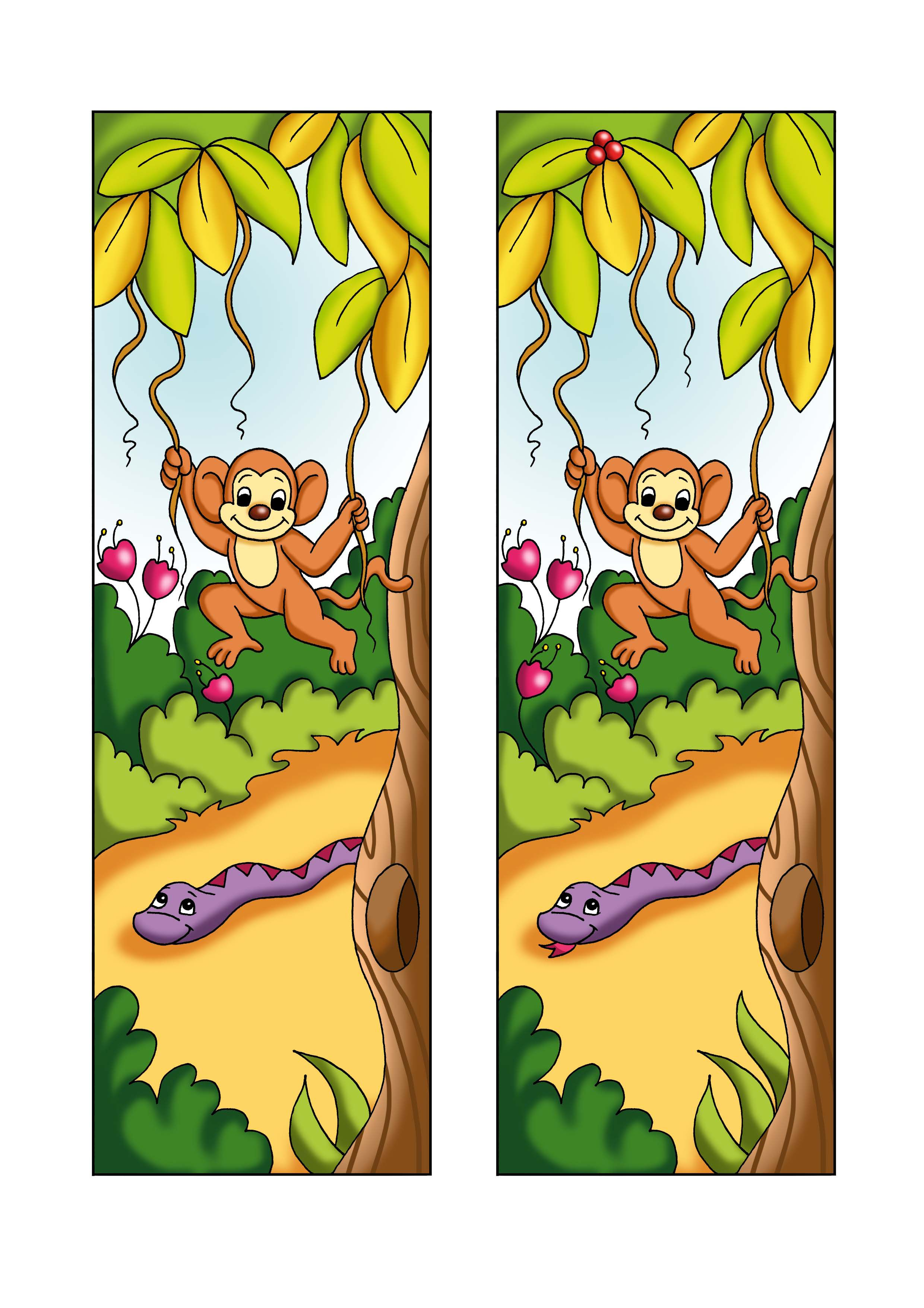 Find The Difference Printable Monkey Game