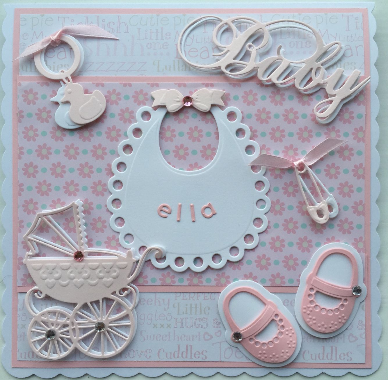 Baby card by sospecial cards using marianne dies
