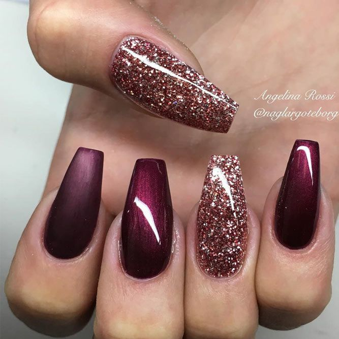 24 Newest Burgundy Nails Designs You Should Definitely Try in 2017 ...