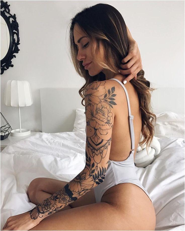 Photo of Tatouages abdominaux inférieurs, tatouage au jasmin, tatouage enveloppant le bras …