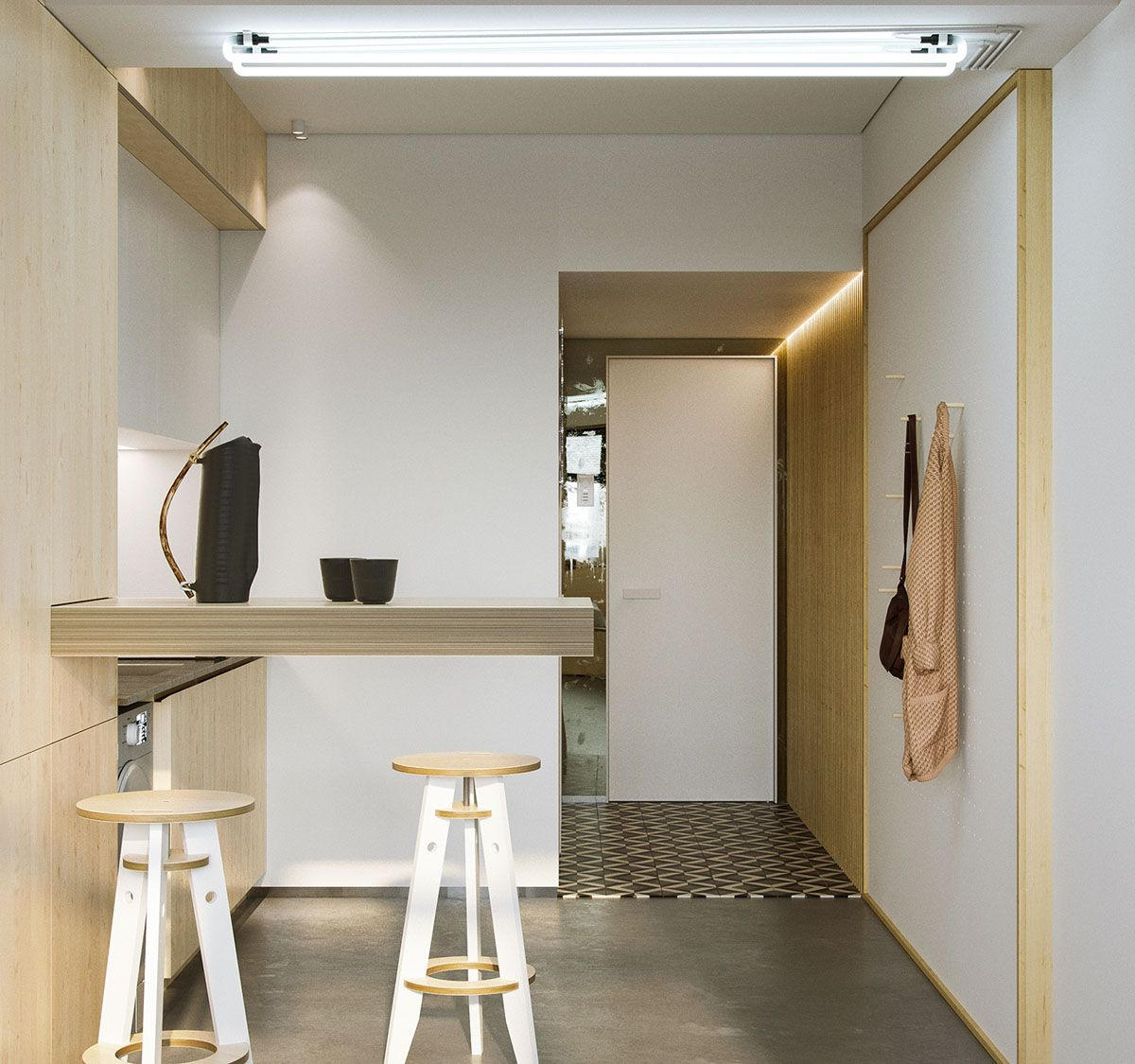 99 Diy Apartement Decorating Ideas On A Budget 23: Super Compact Spaces: A Minimalist Studio Apartment Under