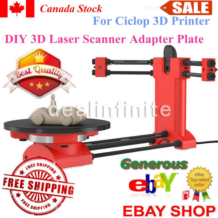 DIY 3D Scanner Open Source Laser Plate Kit w//Adapter Object For Ciclop Printer