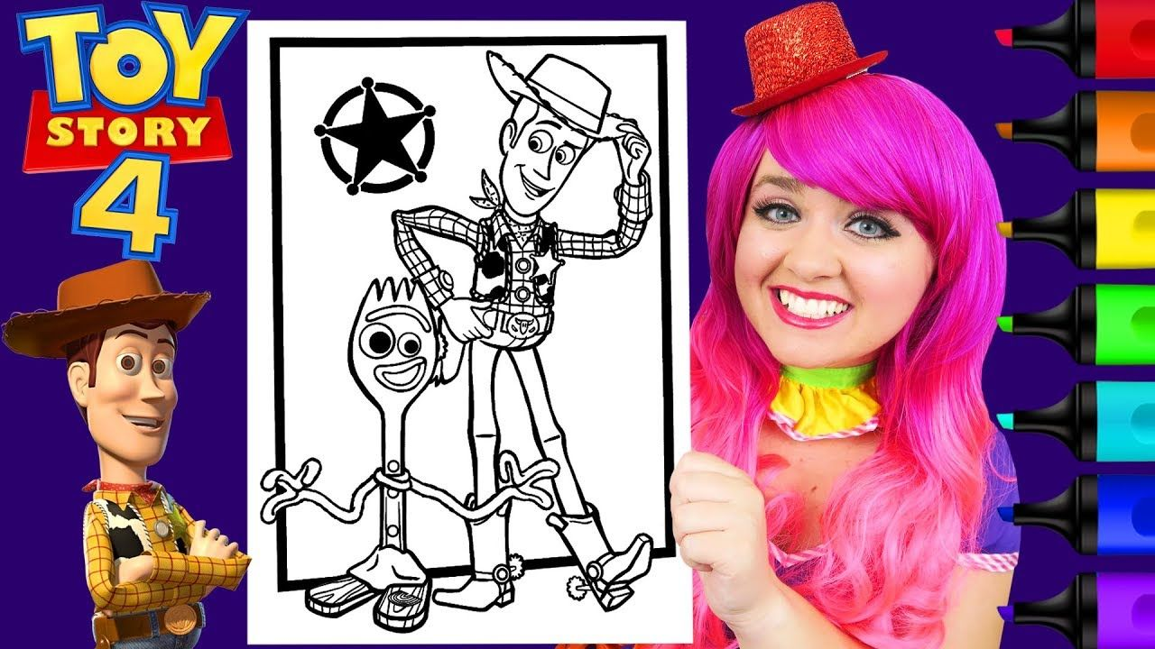 Coloring Toy Story 4 Woody Forky Coloring Page Prismacolor Markers K Toy Story Coloring Pages Toy Story Disney Coloring Pages