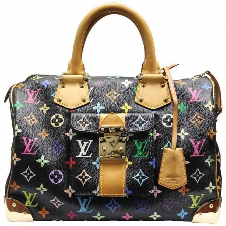 6e99bf353091 Louis Vuitton Murakami Speedy 30 Black Multicolor Handbag in Box   Louisvuittonhandbags