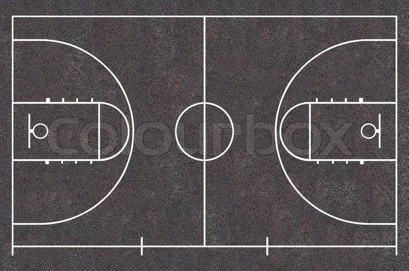 Basketball Court Floor Plan Asphalt Texture Street Basket Ball Stock Photo Colourbox Basketball Court Flooring Asphalt Texture Basketball Texture