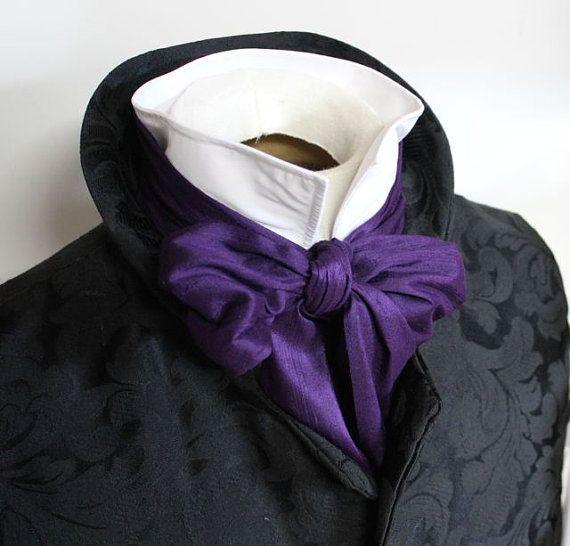 REGENCY Brummel Victorian Ascot Tie Cravat  Royal by elegantascot